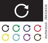 redo and undo symbol on gray... | Shutterstock .eps vector #286126226