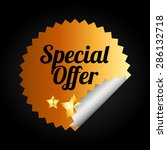 special offer design  vector... | Shutterstock .eps vector #286132718
