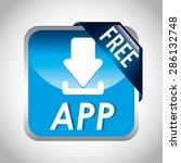 free app design  vector...   Shutterstock .eps vector #286132748