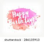 vector hand painted watercolor... | Shutterstock .eps vector #286135913