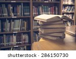 opened old book in vintage... | Shutterstock . vector #286150730