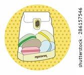 france macarons theme elements... | Shutterstock .eps vector #286157546