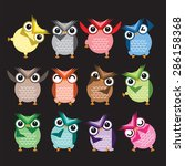 cute vector collection of... | Shutterstock .eps vector #286158368