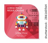 robot concept flat icon with... | Shutterstock .eps vector #286160564