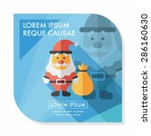 santa claus flat icon with long ... | Shutterstock .eps vector #286160630