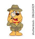 detective dog | Shutterstock .eps vector #286164329