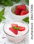 strawberry yogurt and fresh... | Shutterstock . vector #286173386