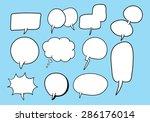 set of cartoon speech bubbles | Shutterstock .eps vector #286176014