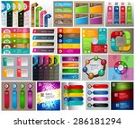 colorful modern text box... | Shutterstock .eps vector #286181294