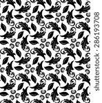 floral  oriental fine pattern... | Shutterstock . vector #286193708