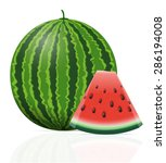 watermelon ripe juicy vector... | Shutterstock .eps vector #286194008