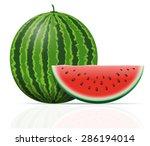watermelon ripe juicy vector... | Shutterstock .eps vector #286194014