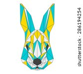 abstract rabbit isolated on... | Shutterstock .eps vector #286194254
