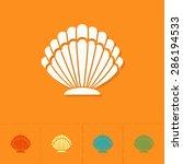 summer and beach simple flat...   Shutterstock .eps vector #286194533