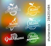 different menu labels design... | Shutterstock .eps vector #286201484
