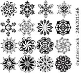 set of round pattern tattoo.... | Shutterstock .eps vector #286201568