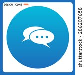 chat  messages. flat design... | Shutterstock .eps vector #286207658
