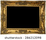 golden picture frame | Shutterstock . vector #286212098