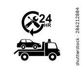 car towing truck icon.vector | Shutterstock .eps vector #286212884
