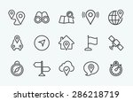 linear navigation icon | Shutterstock .eps vector #286218719