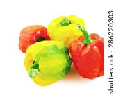 red and yellow bell pepper low... | Shutterstock .eps vector #286220303