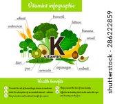infographic set of vitamin k... | Shutterstock .eps vector #286222859