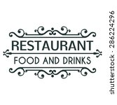 restaurant. food and drinks.... | Shutterstock .eps vector #286224296