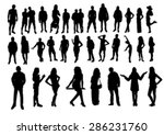 woman and man silhouettes design | Shutterstock .eps vector #286231760