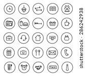 flat line vector icons morning  ... | Shutterstock .eps vector #286242938