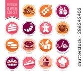 bakery  patisserie icon set | Shutterstock .eps vector #286243403