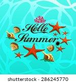 hello summer .summertime ... | Shutterstock .eps vector #286245770