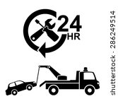 car towing truck icon.vector | Shutterstock .eps vector #286249514