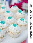 wedding dessert with delicious...   Shutterstock . vector #286255250