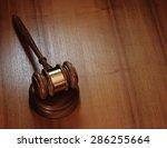 judge gavel on wooden