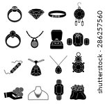 jewellery icons set | Shutterstock .eps vector #286257560