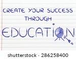 hit your targets in life ... | Shutterstock . vector #286258400