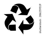 triangular recycling symbol....   Shutterstock .eps vector #286259519