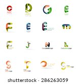 set of new universal company... | Shutterstock .eps vector #286263059