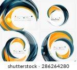 vector swirl line abstract... | Shutterstock .eps vector #286264280