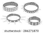 cartoon image of punk necklaces | Shutterstock . vector #286271870