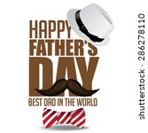 happy fathers day mustache... | Shutterstock .eps vector #286278110