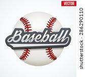 premium baseball label. symbol... | Shutterstock .eps vector #286290110