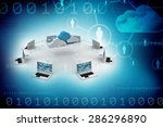 cloud computing devices | Shutterstock . vector #286296890