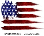 the usa flag painted on white... | Shutterstock . vector #286299608