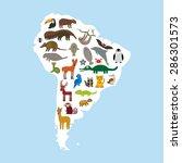 south america sloth anteater... | Shutterstock .eps vector #286301573