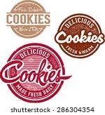 fresh baked cookies | Shutterstock .eps vector #286304354