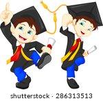 happy graduates   Shutterstock .eps vector #286313513
