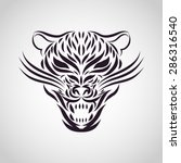 jaguar logo vector   Shutterstock .eps vector #286316540