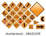 road sign set   emergency | Shutterstock .eps vector #28632109