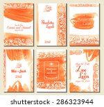 set of perfect wedding card... | Shutterstock .eps vector #286323944